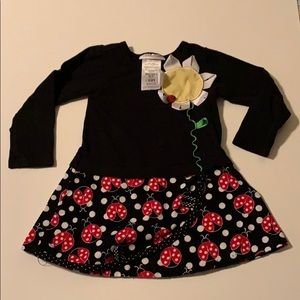 Beautiful ladybugs black dress